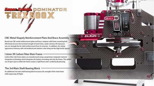 Align T-REX 500X Dominator Top Super Combo