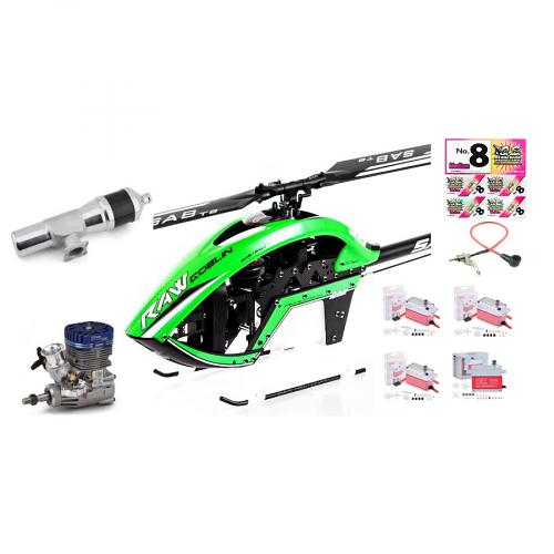 Sab Goblin RAW 700 size NITRO helicopter Super combo with Engine