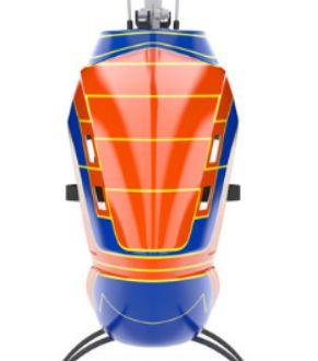 Mikado LOGO 800 Helicopter kit orange/blue Scorpion Motor Combo