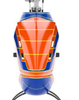 Mikado LOGO 800 Helicopter kit neon-orange/blue